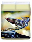 1938 Cadillac V-16 Hood Ornament 2 Duvet Cover by Jill Reger