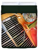 1938 Chevrolet Coupe Grille Emblems Duvet Cover