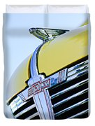 1938 Chevrolet Coupe Hood Ornament -0216c Duvet Cover
