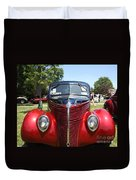 1938 Ford Two Door Sedan Front View Duvet Cover