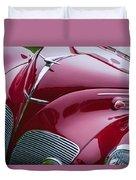 1938 Lincoln-zephyr Convertible Coupe Grille - Hood Ornament - Emblem Duvet Cover