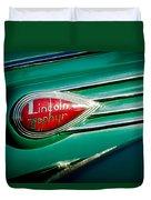 1938 Lincoln Zephyr Emblem Duvet Cover