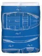 1938 Rowboat Patent Artwork - Blueprint Duvet Cover