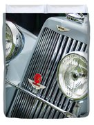 1939 Aston Martin 15-98 Abbey Coachworks Swb Sports Grille Emblems Duvet Cover