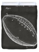 1939 Football Patent Artwork - Gray Duvet Cover