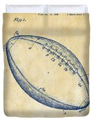 1939 Football Patent Artwork - Vintage Duvet Cover