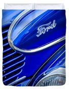 1939 Ford Woody Wagon Side Emblem Duvet Cover