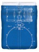 1939 Snare Drum Patent Blueprint Duvet Cover