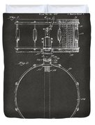 1939 Snare Drum Patent Gray Duvet Cover