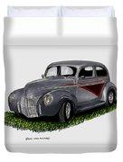 1940 Ford Custom Street Rod Duvet Cover