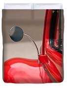 1940 Ford Deluxe Coupe Rear View Mirror Duvet Cover