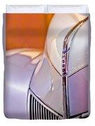 1940 Ford Hood Ornament Duvet Cover by Jill Reger
