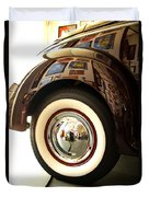 Classic Maroon 1940 Ford Rear Fender And Wheel   Duvet Cover