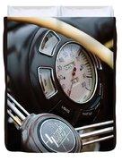1938 Lincoln-zephyr Continental Cabriolet Steering Wheel Emblem -1817c Duvet Cover