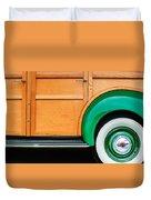 1940 Packard 120 Woody Station Wagon Wheel Emblem Duvet Cover