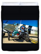 1940 Triumph And Supermarine Mk959 Spitfire  Duvet Cover