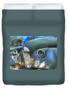 1940s Antique Chevrolet Hood View Duvet Cover