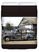 1940s Era Packard Wood-panel Wagon Duvet Cover