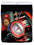 1941 Buick Eight Special Steering Wheel Emblem Duvet Cover
