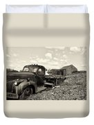 1941 Chevy Truck In Sepia Duvet Cover