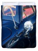 1941 Lincoln Continental Convertible Emblem Duvet Cover