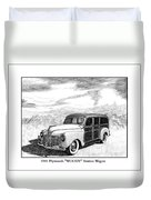 1941 Plymouth Woody Duvet Cover