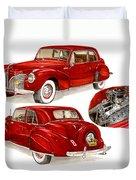 1941 V 12  Lincoln Continental Duvet Cover