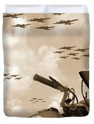 1942 Indian 841 - B-17 Flying Fortress' Duvet Cover