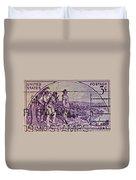 1942 Kentucky Statehood Stamp Duvet Cover