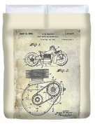 1943 Indian Motorcycle Patent Drawing Duvet Cover