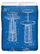 1944 Wine Corkscrew Patent Artwork - Blueprint Duvet Cover