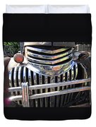 1946 Chevrolet Truck Chrome Grill Duvet Cover