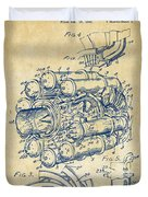 1946 Jet Aircraft Propulsion Patent Artwork - Vintage Duvet Cover