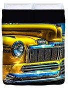 1946 Mercury Eight Street Rod Grille Duvet Cover