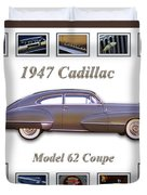 1947 Cadillac Model 62 Coupe Art Duvet Cover