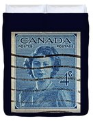 1947 Canada Four Cents Stamp Duvet Cover