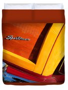 1947 Ford Super Deluxe Sportsman Convertible Taillight Emblem Duvet Cover