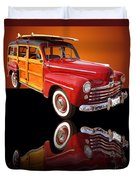 1947 Ford Woody Duvet Cover by Jim Carrell