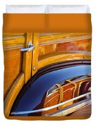 1947 Mercury Woody Reflecting Into 1947 Ford Woody Duvet Cover