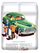 1948 - Dodge Automobile Advertisement - Color Duvet Cover
