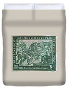 1948 Allied Occupation German Stamp Duvet Cover