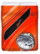 1948 Anglia 2-door Sedan Grille Emblem Duvet Cover