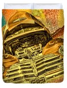 1948 Chev Gold Tie Dye Tilt Car Art Duvet Cover