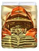 1948 Chev Red Gold Metal Art Duvet Cover