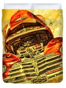 1948 Chevy Gold Acid Art Duvet Cover