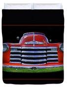 1948 Chevy Pickup W/badge Duvet Cover