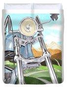 1948 Harley Davidson W L A Duvet Cover