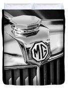 1948 Mg Tc Hood Ornament -767bw Duvet Cover