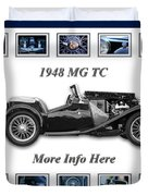 1948 Mg Tc Duvet Cover