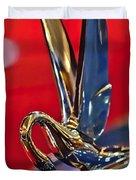 1948 Packard Hood Ornament Duvet Cover